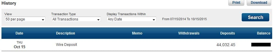 Cash Out Wire Transfer