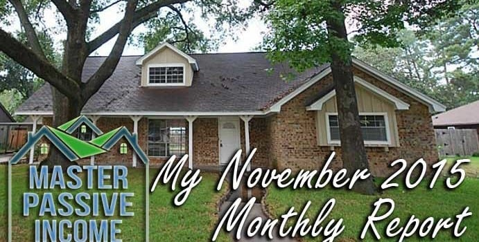 My November 2015 Monthly Report