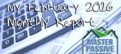 My February 2016 Monthly Report
