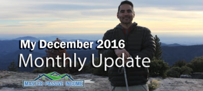 My December 2016 Monthly Update – I Did It!