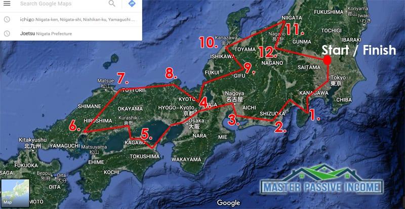 japan vacation map