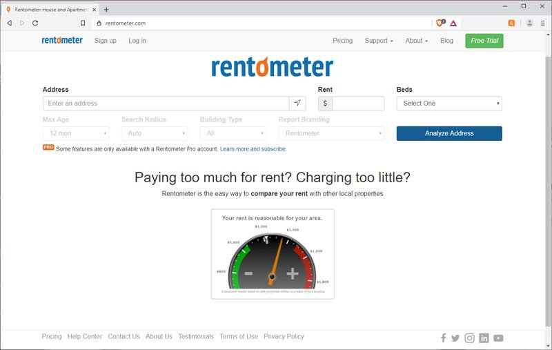 how to use rentometer