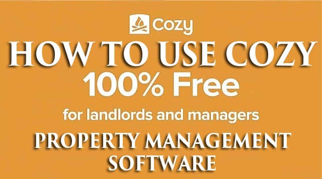 How to Use Cozy free Landlord Software property management